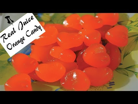 सन्तरे के जूस से बनाये सन्तरे की गोली  | Orange juice candy | Orange candy | How to make candy