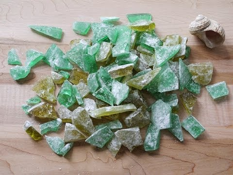 How to make Sea Glass Candy WITHOUT A THERMOMETER (beach theme party recipe)