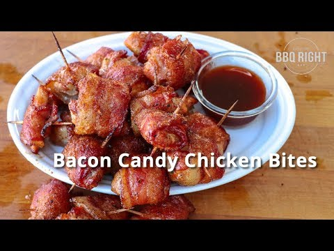 Bacon Candy Chicken Bites Recipe | Football Food
