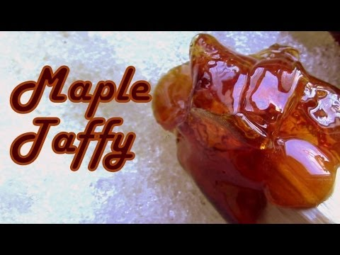 How to Make Maple Taffy / Maple Candy