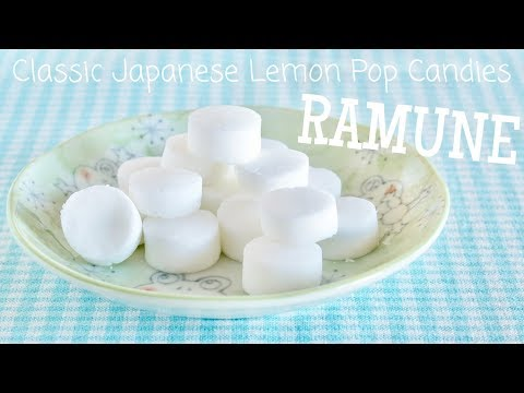 Classic Japanese Lemon Pop Candy (Ramune Recipe) | OCHIKERON | Create Eat Happy :)