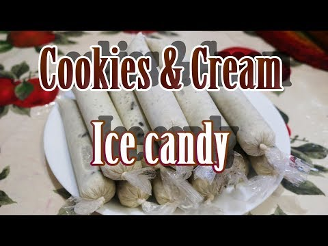 How to make Cookies and Cream Ice Candy