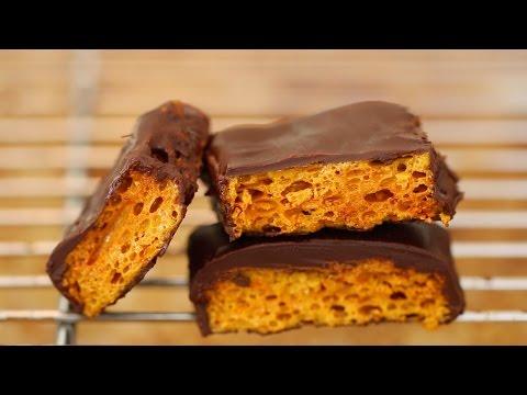 Homemade Honeycomb & Cadbury Crunchie Bars Recipe – Gemma's Bigger Bolder Baking Ep. 29