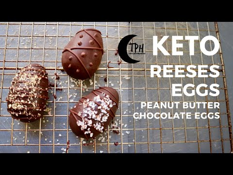 Keto Reese's Peanut Butter Eggs | Low-Carb Chocolate Peanut Butter Candy Recipe