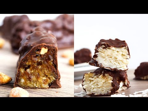 Homemade Vegan Candy Recipes // Snickers and Mound Bars