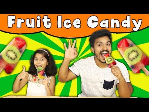 Fruit Ice Candy At Home ( Very Easy ) | Kids Making Yummy Fruit Ice Candy