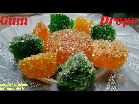 HOW TO MAKE GUM DROPS? Gum Drops Hindi Recipe | Sugar Candy Recipe