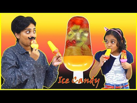 Colourful ICE CANDY | Ice Candy Recipe for Kids | Fruit Ice Candy Ice Cream #missanika