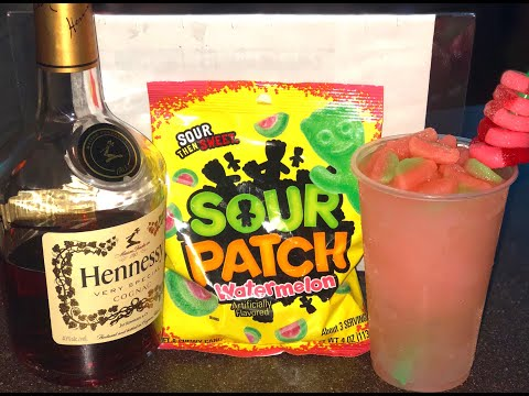 HOW TO MAKE A FROZEN SOUR PATCH HENNESSY DRINK