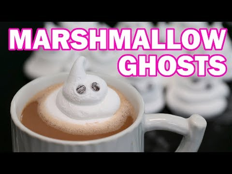 How to Make Ghost Marshmallows | Marshmallow Ghosts | Homemade Halloween Candy Recipes