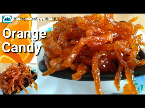 Orange candy recipe || Candy with orange peel || food species