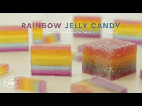 반짝반짝 영롱한✧*。레인보우 보석젤리 사탕 만들기 : Rainbow Jelly Candy Recipe | Cooking tree