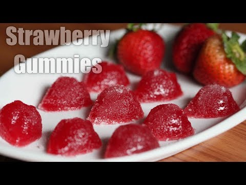 Homemade Strawberry Jelly Candies | Candy Recipe