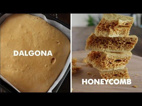 BEST Dalgona (Korean sugar candy) recipe / Honeycomb ท๊อฟฟี่ คาราเมล น้ำตาลกรอบ ไม่ตกผลึก