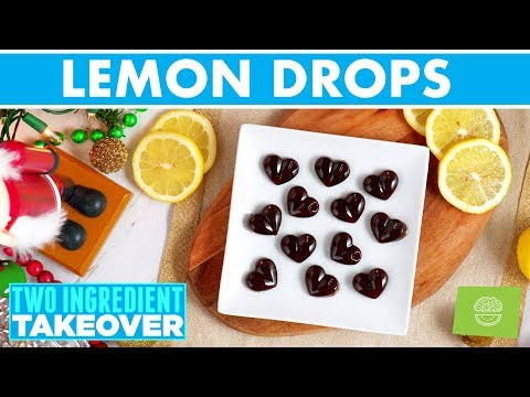 2 Ingredient Lemon Drops Candy! Two Ingredient Takeover Holiday Recipes!