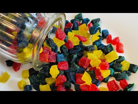 তরমুজের খোসা দিয়ে ট্যুটি ফ্রুটি /ক্যান্ডি/গামি ।।Tutti Frutti/Gummy/Candy recipe