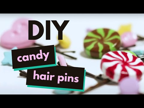 Make your own cute candy hair pins (quick & easy!)