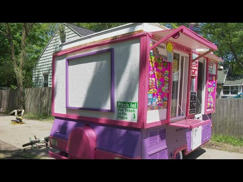 Michigan 10-year-old opens driveway candy shop inside renovated, pop up camper
