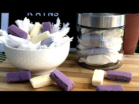MILK & UBE CANDY BARSll How To Make Homemade Candy Bars   Philippines Best