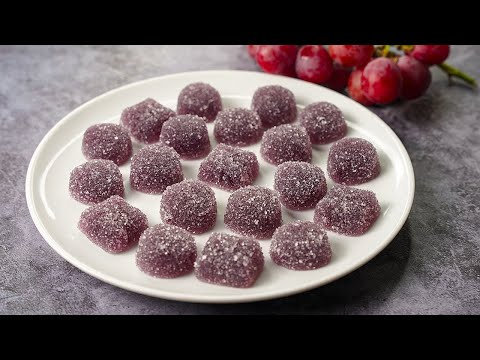 Grapes Gummy Candy   Grapes Jujubes Recipe   Grapes Gummies   Jello Candy Recipe   Yummy
