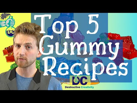 Top 5 Gummy candy recipes – homemade gummy bears and gummy lego