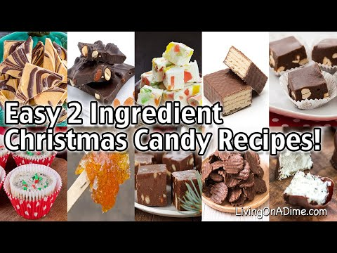 Easy 2 Ingredient Christmas Candy Recipes! Easy Christmas Candy Recipes With Few Ingredients