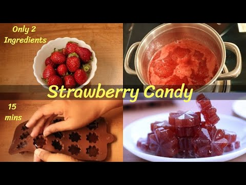 Strawberry Candy Recipe | 2 Ingredients Strawberry Candy | Candy without Cornstarch – DV Recipes